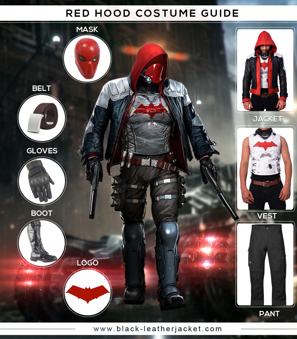 Gear Up This Admiring Red Hood Costume Inspired From