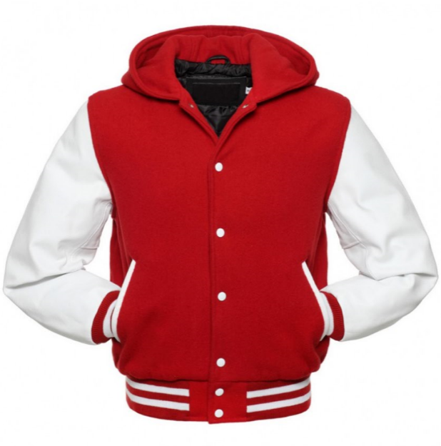Red and White Varsity Hoodie