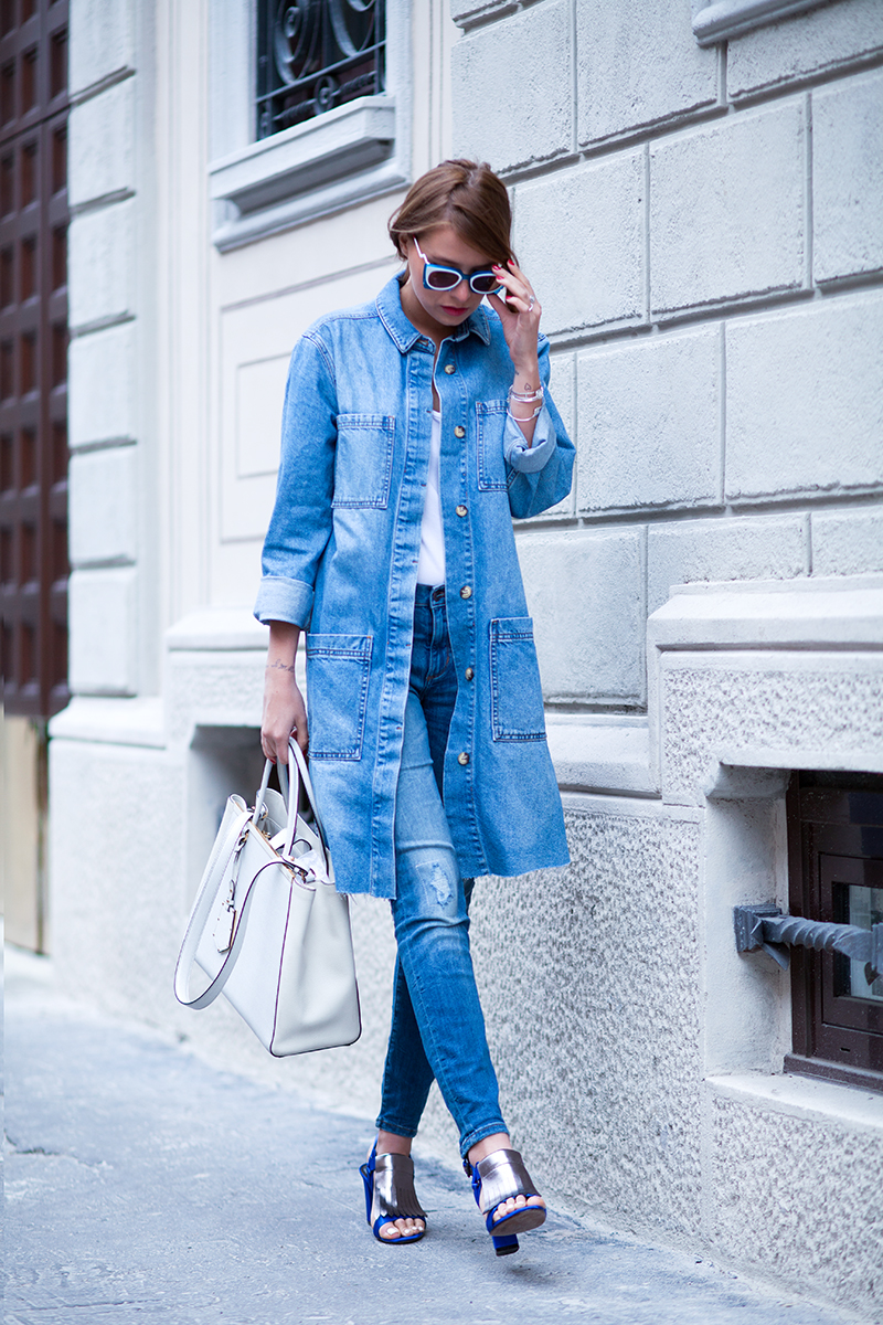 LONG COAT STYLE DENIM