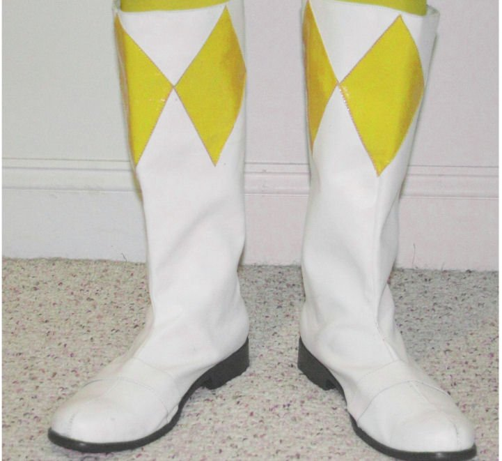 yellow power ranger boots