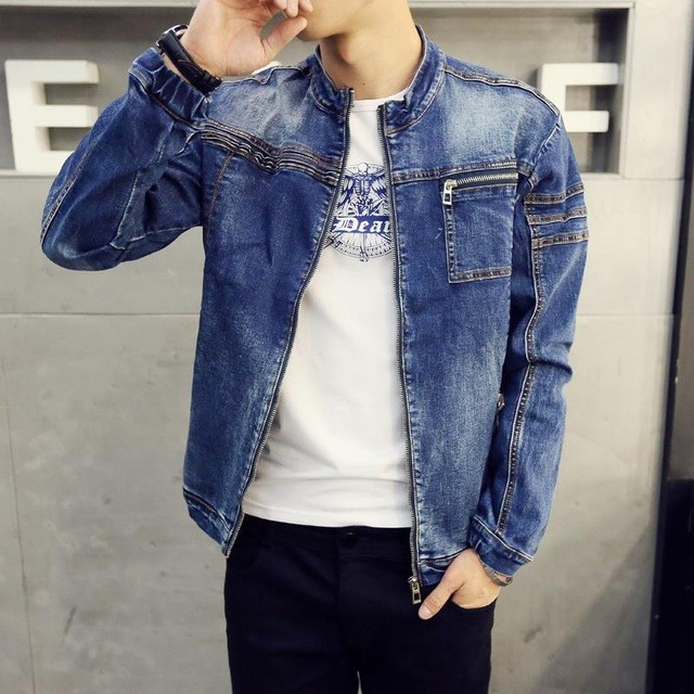 SLIM FIT CASUAL STYLE DENIM JACKET