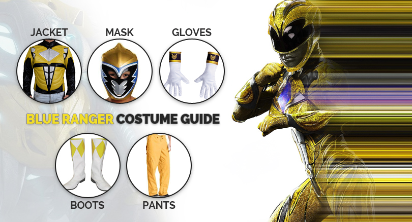 Yellow Power Rangers Costume