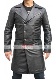 Sweeney Todd Long Johnny Depp Leather Jacket