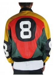 8 Ball David Puddy Leather Jacket for Sale