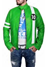 Alien Swarm Ben 10 Green Leather Jacket