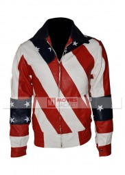 American Flag Womens Leather Motorcycle Jacket