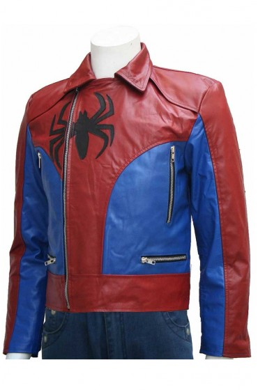 Andrew Garfield The Amazing Spider Man 2 Red Leather Jacket