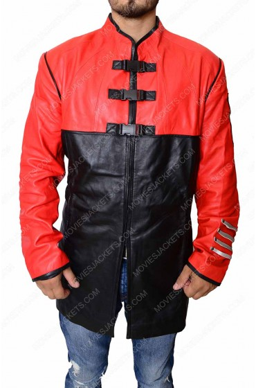 Ben Browder Farscape Red and Black Leather Jacket
