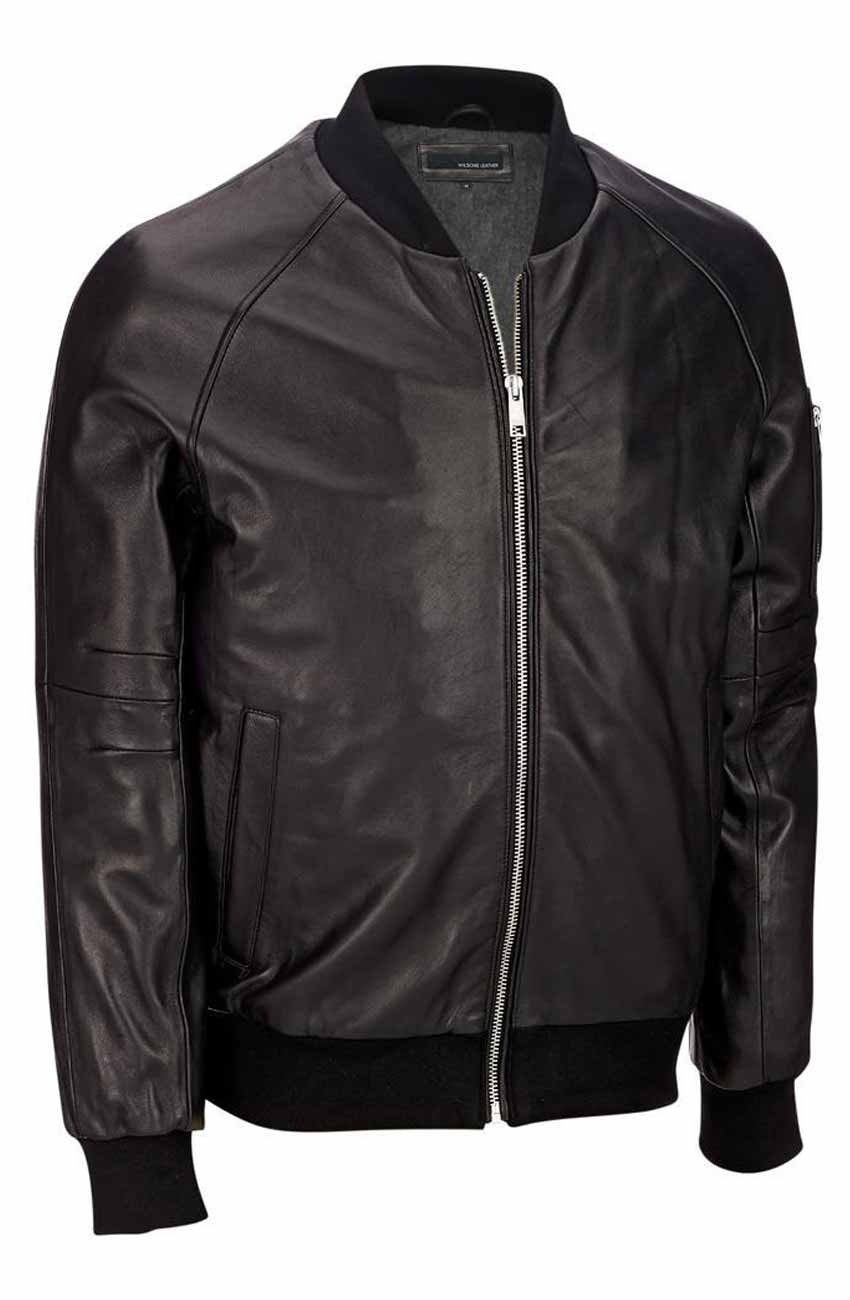 Leather bomber jacket for sale