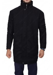 Counterpart Howard Silk Black Coat
