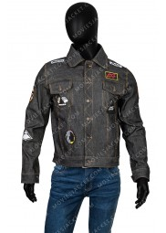 Daft Punk Black Denim Jacket