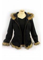 Durarara Izaya Jacket with Fur Jacket and Hoodie
