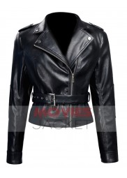 Emilia Clarke Terminator Genisys Movie Sarah Connor Leather Jacket