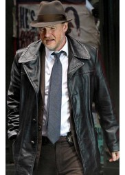 Gotham Harvey Bullock Black Leather Jacket