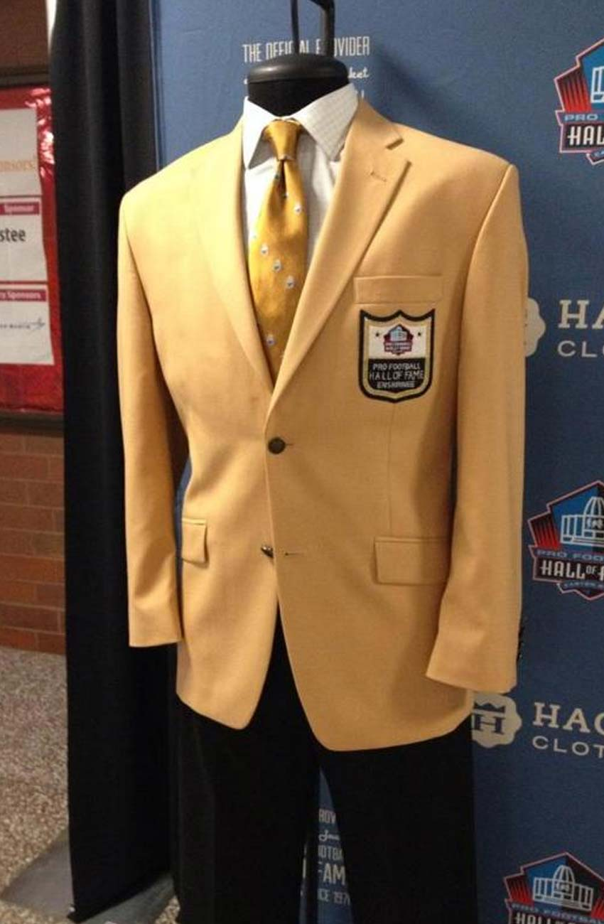 check out ac0df cd5b9 Hall Of Fame Jacket - Pro Football Hall Of Fame Gold Coat