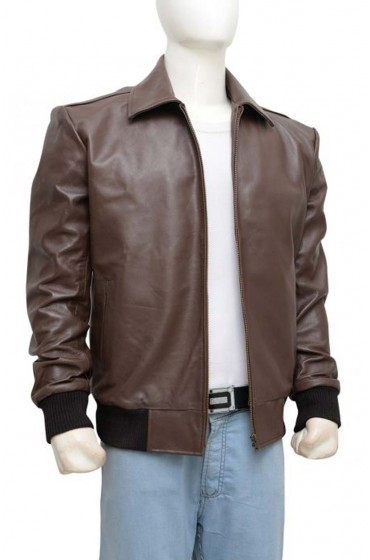 Happy Days Fonzie Brown Leather Jacket