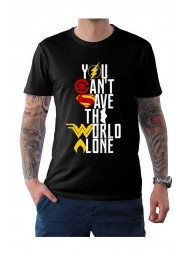 Justice League You Cant Save The World Alone T Shirt