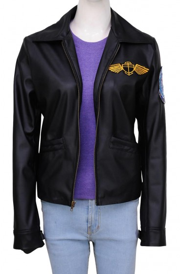Kelly Mcgillis Charlie Top Gun Jacket