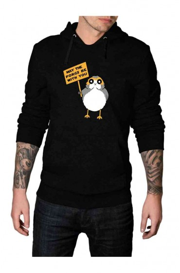 May The Porg Be With You Black Hoodie
