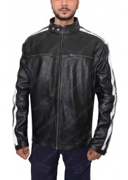 Mens Biker Striped Jacket