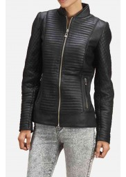 Motorcycle Ladies Quilted Jacket