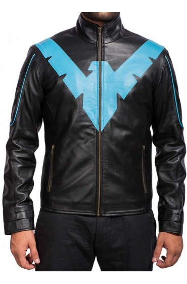 Batman Arkham Knight Nightwing Leather Jacket
