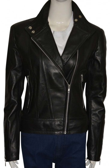 Olivia Dunham Fringe TV Series Anna Torv Leather Biker Jacket