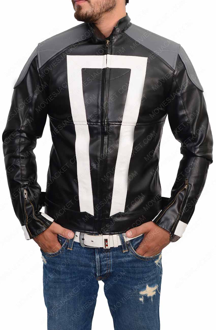 Agent Of Shield Ghost Rider Jacket Robbie Reyes Leather