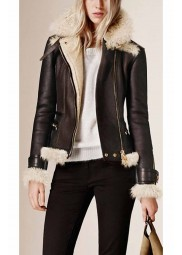 Shearling Womens Brown Jacket