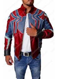 "Spiderman Infinity War Leather Jacket ""Free T-Shirt"""