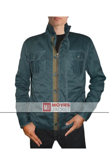 The Gunman Movie Sean Penn Dark Green Cotton Jacket