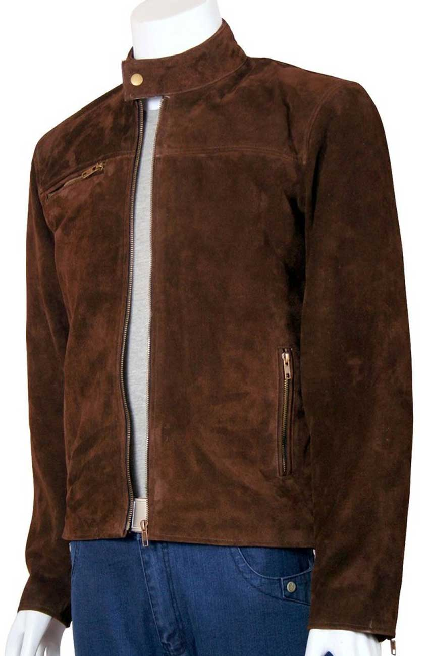 Tom Cruise Mission Impossible Jacket Mens Brown Suede Jacket