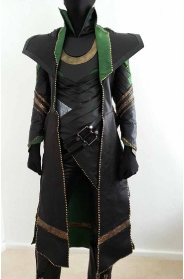 "Tom Hiddleston Loki Coat ""Free T-Shirt"""