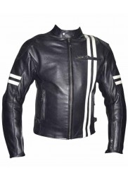 Vintage Riding Cafe Racer Leather Jacket