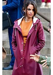 A Rainy Day In New York Selena Gomez Hooded Coat