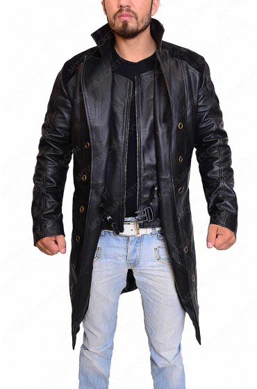 Adam Jensen Deus Ex Human Revolution Black Leather Coat