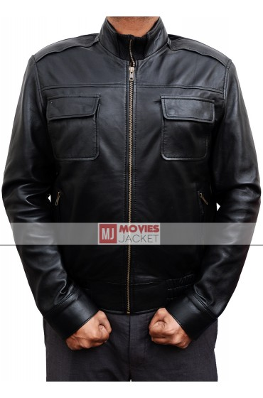 Chris Evans Avengers Age of Ultron Black Leather Jacket