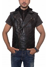 AJ Styles Leather Vest with Hoodie