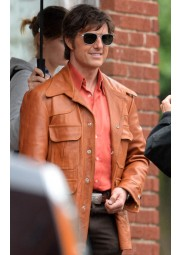 American Made Movie Tom Cruise Leather Jacket