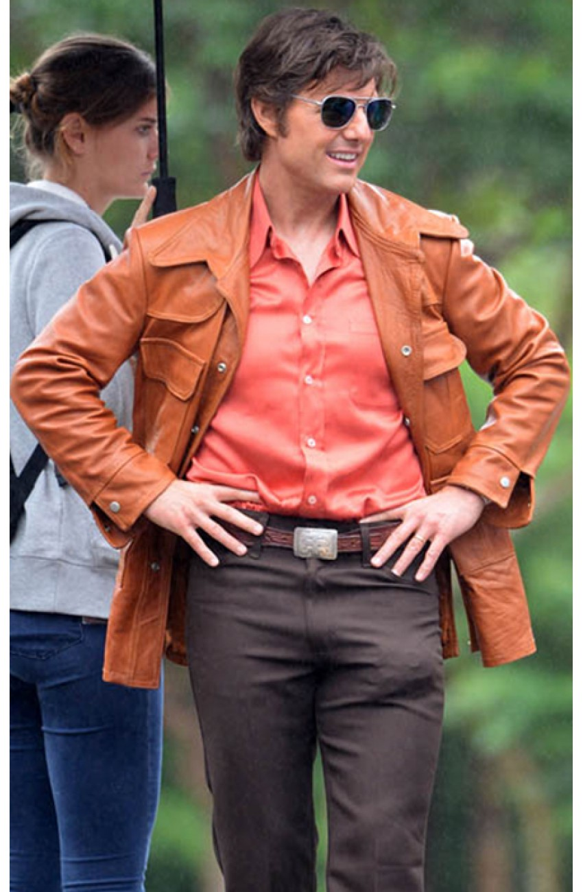 American Made Tom Cruise Jacket Barry Seal Leather