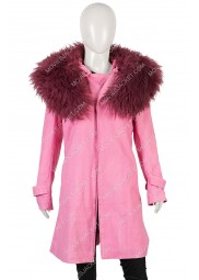 Anne Hathaway Modern Love Pink Coat