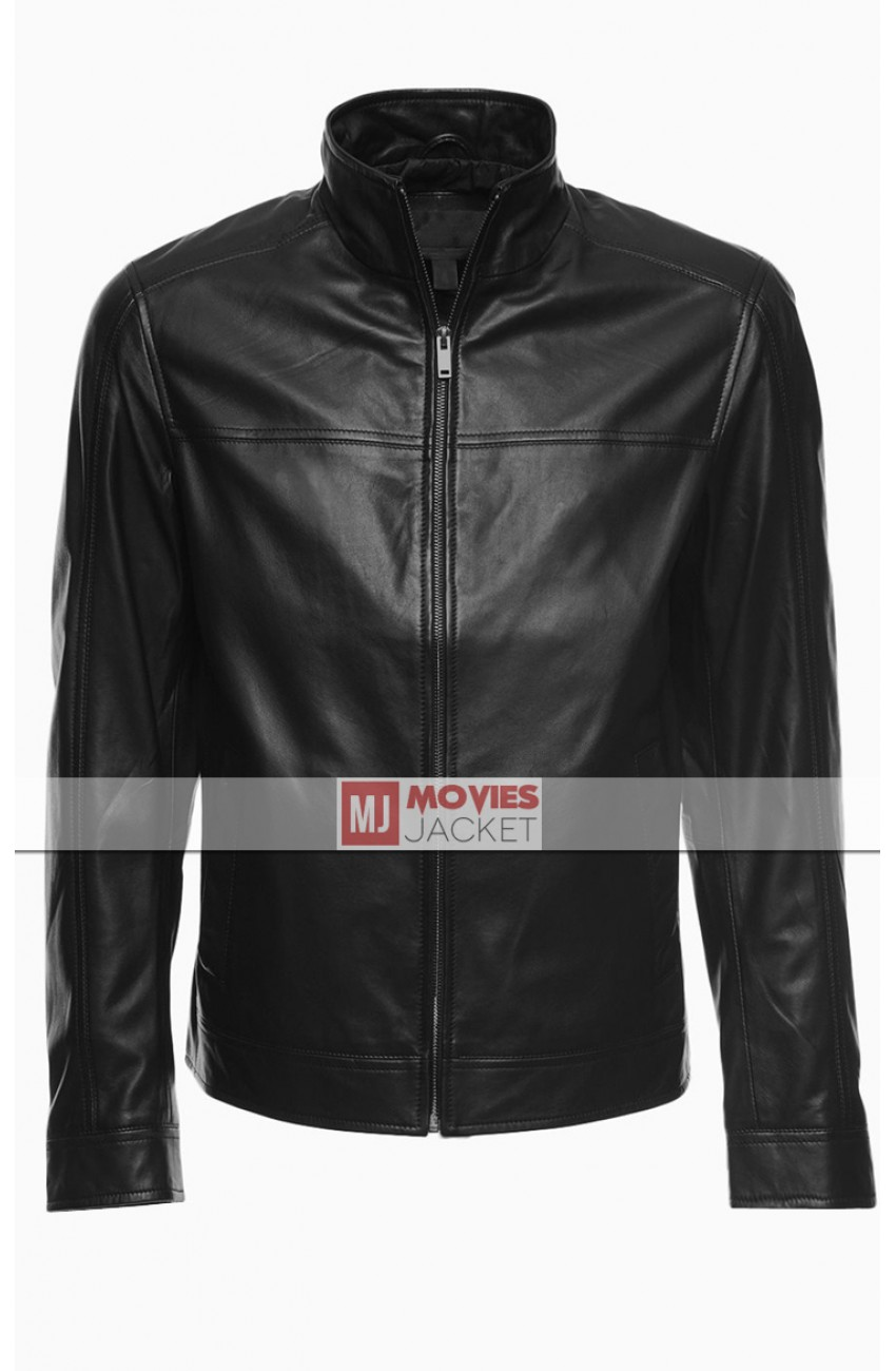 20523dd8040 Oliver Queen Black Leather Jacket - Arrow Stephen Amell Black Jacket -  Movies Jacket