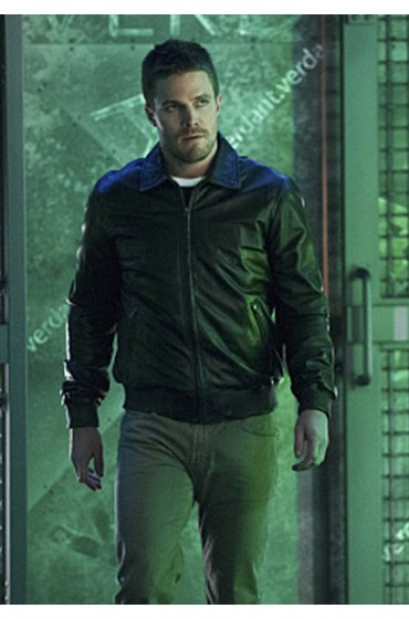 Arrow TV Series Stephen Amell Bomber Jacket
