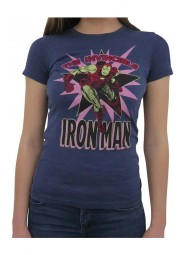 Avenger Infinity War Iron Man Blue Cotton Shirt