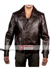Avengers Captain America Brown Leather Motorcycle Jacket