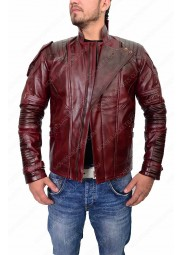 "Avengers Infinity War Star Lord Leather Jacket ""Free T-Shirt"""
