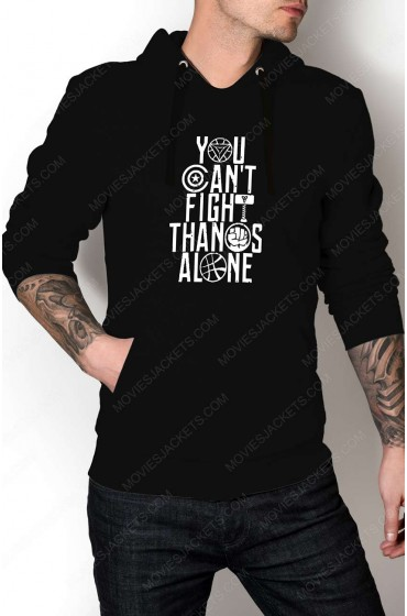 """Avengers Infinity War You Can't Fight Thanos Alone Hoodie """"Free T-Shirt"""""""