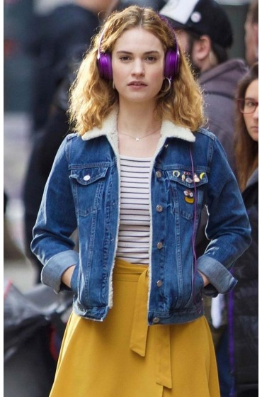 Lily James Baby Driver Deborah Jacket