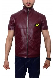 Batman Arkham City Video Game Robin Leather Vest