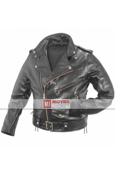 Biker Style Triple H Leather Jacket